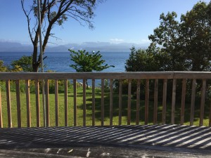 Cottage deck view
