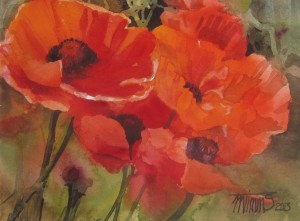 Day 22 Really Red Poppies 9_12X7