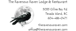 The Ravenous Raven Lodge & Restaurant Texada Island, BC